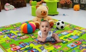 Thảm chơi 2 mặt cho bé kích thước 1.5 x 2m