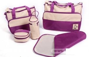 Túi xách 5 chi tiết cho mẹ và bé màu hồng, xanh, nâu
